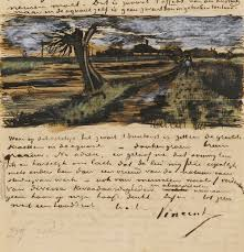 hundreds of van gogh paintings sketches letters in vg letter to theo willow