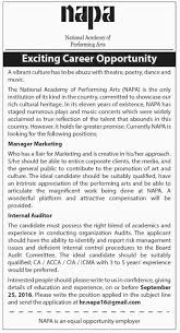 jobs in national academy of performing arts napa