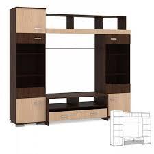 Стенка <b>Домино</b>-5 (Тироль <b>шоколад</b>/Кедр) - Мебель во ...