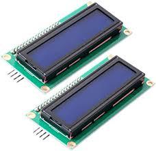 FICBOX IIC/I2C <b>1602</b> Serial 5V <b>Blue Backlight LCD</b> Display for ...