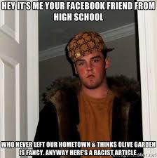 HEY IT'S ME your facebook friend from high school who never left ... via Relatably.com