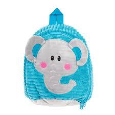 Детский плюшевый рюкзак Smiki Слоник, синий цена   220.lv