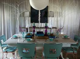 aqua dining room full a unique aqua and gray dining room with purple accents by lindsay hoek
