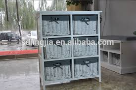 white storage unit wicker: wicker chest of drawer storage unit white wood furniture bathroom cabinet