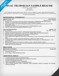 resume on pinterest hvac technician resume sample resumecompanioncom hvac technician sample resume