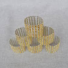 <b>50pcs</b>/<b>lot</b> Wedding <b>Napkin Holders</b> Diamond <b>Napkin Rings</b> for ...