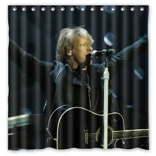Hot New <b>180</b> x <b>180cm Bon Jovi</b> Band Print Waterproof Fabric ...