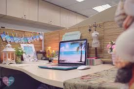 shai lagarde love chic style blogger cubicle decor beach inspired summer theme work space office interiors beach office decor