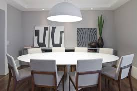 cool dining tables funky artworks feat white leather chairs and big pendant lamp idea also beautiful funky dining room lights