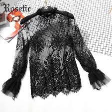 <b>Rosetic Gothic</b> Vintage Sexy <b>Women</b> Summer <b>Blouse</b> Straight Lace ...