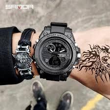 <b>SANDA</b> 739 Sports Men's Watches <b>Top Brand Luxury</b> Military Quartz ...