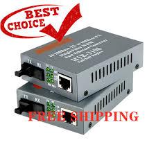WHOLESALE 2Pcs <b>Htb</b>-3100 Konverter <b>Fiber</b> Optik Single Mode <b>Htb</b> ...