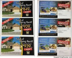 direct mail marketing guide and real life examples kopywriting direct mail flyer tired of paying rent