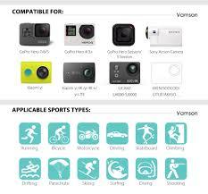 Vamson для Gopro Hero 7 6 5 4 черный для Xiaomi Yi 4K Lite ...