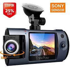 Dash Cam, TrekPow T1 Sony Sensor FHD 1080P Car DVR ...