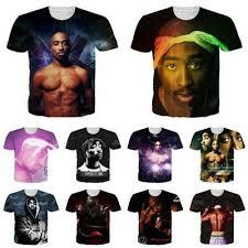 <b>2Pac Tupac Rapper Shakur</b> 3D Print Women/Mens Casual T-Shirt ...
