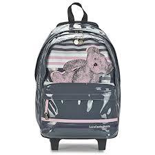 <b>Lulu Castagnette</b> Grey 45 cm High Quality Roller Bag – School Bag