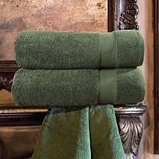 "<b>Набор из 2 полотенец</b> ""Аберден"" Цвет: Зеленый (70х140 см - 2 ..."