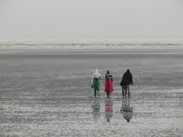 Chandipur beach without water