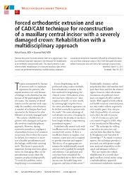 (PDF) Forced orthodontic extrusion and use of CAD/CAM technique ...