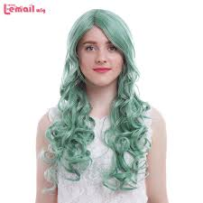<b>L email wig Brand New</b> Women Wigs 65cm/25.6inches Colors Blue ...
