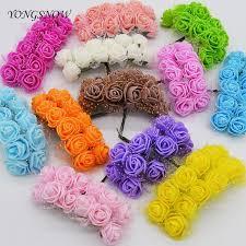 <b>72Pcs</b>/<b>lot</b> 25mm Mini <b>PE</b> Foam Silk Flowers Artificial <b>Rose flower</b> ...