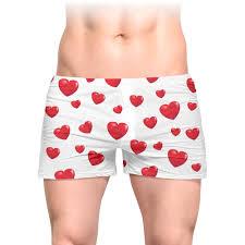 <b>Трусы мужские с</b> полной запечаткой сердечки #2658642 в ...