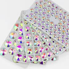 <b>QL Crystal</b> Rivoli Sew On Rhinestones Clear AB Crystal Flatback 2 ...