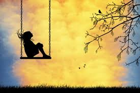 Image result for lonely girl on a swing