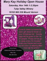 mary kay open house executive shopping experience mount vernon 2015 holiday open house flyer