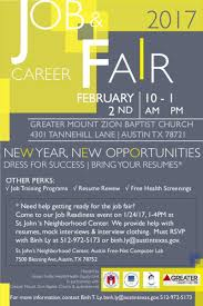 job career fair in austin at greater mount zion baptist church hosted by city of austin austin public health health equity unit in partnership greater mount zion baptist church austin net