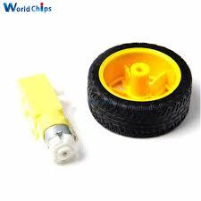 <b>2PCS</b> For arduino smart Car Robot Plastic Tire Wheel with <b>DC 3 6v</b> ...