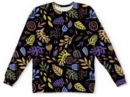 Детский свитшот унисекс Яркий абстрактный <b>цветочный узор</b> ...
