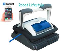 18m cable robot swimming pool cleaner with smartphone control caddy cart automatic robotic free shipping