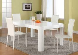 White Dining Room Chairs White Dining Table Set Home Office Furniture Regarding White