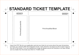 sample tickets template best photos of ticket templates   6 printable tickets template outline templates