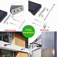 2019 Aluminum Pole <b>48/36 LED</b> Motion Sensor <b>Outdoor</b> Waterproof ...