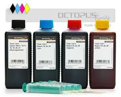 Refill <b>ink</b> kit for Epson 18, 24, 26, 29 <b>cartridges</b>, CMYK | Octopus®