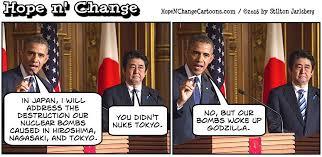 Image result for Obama's Visit to Hiroshima CARTOON