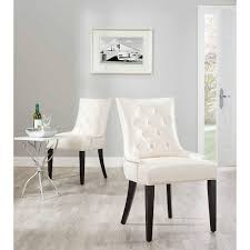 Faux Leather Dining Room Chairs Beige Fabric Upholstered Modern Dining Room Chairs Round Back