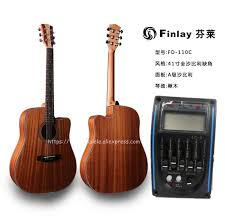 "<b>Finlay</b> High End <b>41</b>"" Cutaway <b>Electric Acoustic Guitar</b> With Pickup ..."