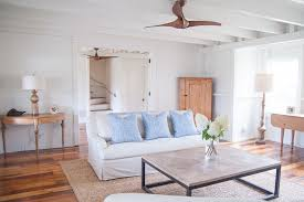 caged ceiling fan living room beach with airy beach cottage beach home blue floral baseboards ceiling fan