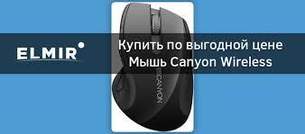 <b>Мышь Canyon</b> Wireless <b>CNS</b>-<b>CMSW01B</b> Black Pearl Glossy купить ...