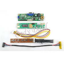 VGA LCD Controller Board Module + Inverter + Lvds Cable for ...