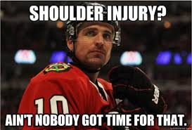 Blackhawks in Playoffs, will Patrick Sharp be back in time? via Relatably.com
