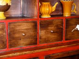 great honey stained distressed wood antiquing wood furniture