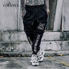 printed Ribbon <b>men</b> Hipster hop <b>Trousers hip</b> Slim Detachable ...
