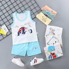 MIRA Children's vest suit <b>2019 summer children's clothing</b> combed ...