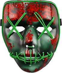The Purge Election Year <b>LED Light Up Mask</b> Festival <b>Halloween</b> ...
