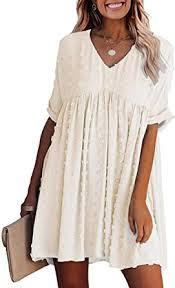 Amazon.com: KIRUNDO Summer <b>Women's</b> Short Sleeves <b>Mini</b> ...